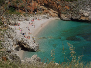 Cala Capreria nella Riserva dello Zingaro