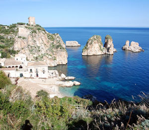 The faraglioni and the tuna of scopello