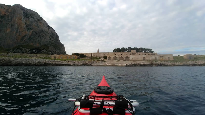 Arrival to the Secco tonnara